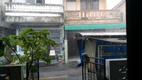 Inondation de forte pluie photos libres de droits