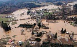 Inondation de l'état de Washington photos libres de droits