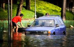 Inondation de l'eau de la Thaïlande image stock