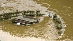 Inondation de l'Elbe, République Tchèque Photos libres de droits