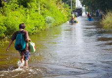 Inondation de la Thaïlande Images stock
