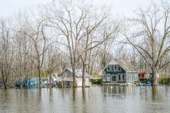 Inondation de printemps en Chambre-Rose Laval image stock