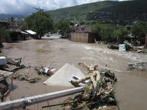 Inondation de rivière dans Chilpancingo image stock