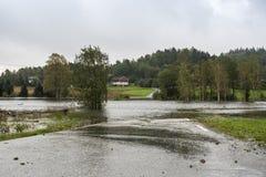 Inondation de rivière Images stock