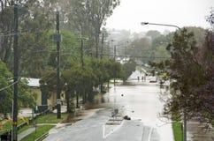 Inondation de rue images libres de droits