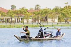 Inondation de Siem Reap Image libre de droits