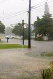Inondation de voisinage Images libres de droits