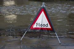 Inondation de Yorkshire - Angleterre Images libres de droits