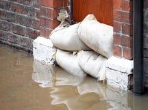 inondation des défenses Photo libre de droits
