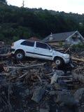 Inondation en Bosnie Images libres de droits