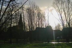 Inondation en Flandre Photographie stock