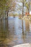 Inondation en Laval West, Québec images libres de droits
