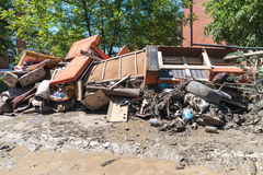 Inondation en 2014 - Maglaj - Bosnie-Herzégovine photos stock