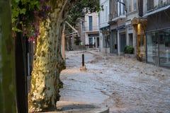 Inondation flodding en casis el 13 de septiembre foto de archivo libre de regalías