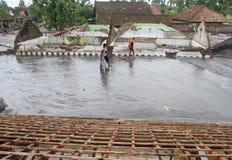 Inondation froide de lave Photographie stock libre de droits