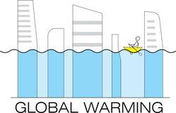 Inondation globale illustration stock