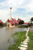 Inondation grave dans Ayutthaya Thaïlande Photographie stock