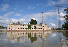 Inondation La rivière Ob, qui a émergé des rivages, en crue les périphéries de la ville Image libre de droits