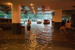 Inondation provoquée par Typhoon Ondoy photo stock
