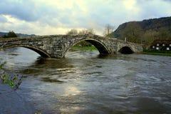 Inondations au Pays de Galles Images libres de droits
