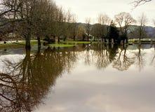 Inondations au Pays de Galles du nord Image libre de droits