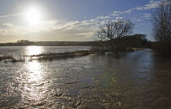 Inondations Bedfordshire du R-U 2014 photos libres de droits