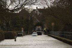 Inondations Bedfordshire R-U du R-U 2014 Photo libre de droits