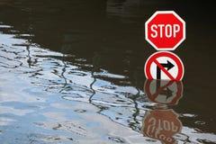 Inondations dans Usti NAD Labem, République Tchèque photos stock