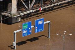 Inondations dans Usti NAD Labem, République Tchèque Photo stock