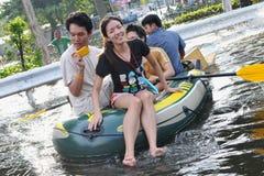 Inondations de Bangkok Images libres de droits