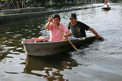 Inondations de Bangkok Images stock