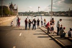 Inondations de Budapest Photographie stock