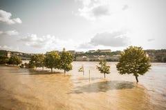 Inondations de Budapest Image libre de droits