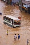 Inondations de Jakarta Photographie stock libre de droits