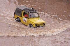 Inondations de Jakarta Photos libres de droits