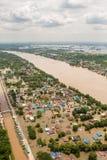 Inondations de la Thaïlande Image libre de droits