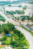 Inondations de la Thaïlande, catastrophe naturelle Photo libre de droits