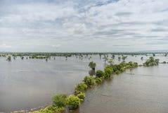 Inondations de la Thaïlande, catastrophe naturelle Image libre de droits