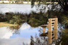 Inondations de matin Photographie stock