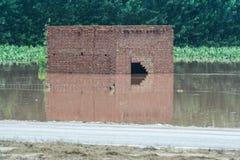 Inondations du Pakistan et évaluation de Buner Image libre de droits