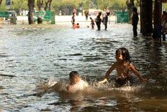 Inondations méga à Bangkok en Thaïlande. Photos libres de droits