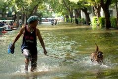 Inondations méga à Bangkok en Thaïlande. Photo libre de droits