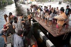 Inondations méga à Bangkok en Thaïlande. Images libres de droits