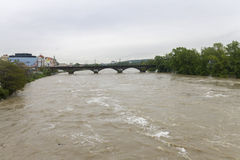 Inondations Prague en juin 2013 Image stock