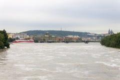 Inondations Prague en juin 2013 Photo stock