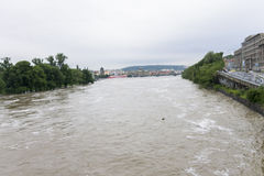 Inondations Prague en juin 2013 Images libres de droits