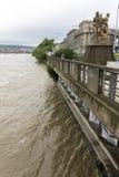 Inondations Prague en juin 2013 Photographie stock libre de droits
