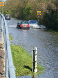 inondations Réchauffement global Rupture du trafic Image libre de droits