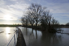 Inondations Radwell Bedfordshire du R-U 2014 Photo libre de droits