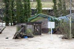 Inondazione 2009 della città di Workington Immagine Stock